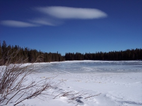 Bierstadt Lake in winter, R.M.N.P.