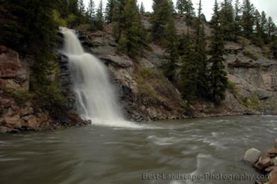 seasonal waterfall near Redstone, Colorado