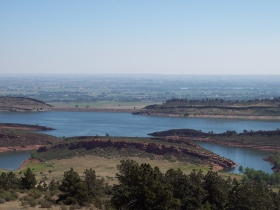 Horsetooth Reservoir in Colorado