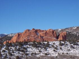 Kissing Camels rock formation at Garden of the Gods