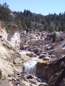 Castlewood Canyon State Park waterfall