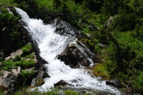 Columbine Lake trail waterfall, Colorado