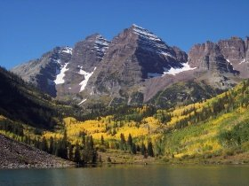 Maroon Bells fall colors, near Aspen