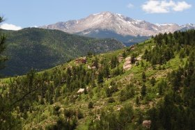 Pikes Peak, Colorado, from the Waldo Canyon trail