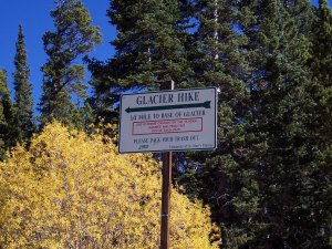 St. Mary's Glacier sign
