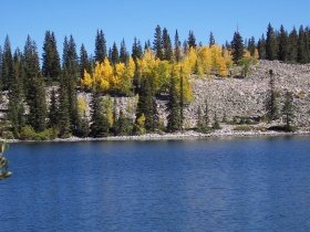 The second of two Thomas Lakes, near Aspen